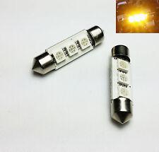 2x Festoon C5W 239 39MM 10x39 SV8,5 3 SMD LED Interior Yellow bulbs E