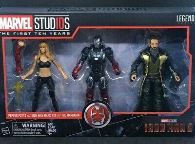 Hasbro Marvel Legends 10th Anniversary Iron Man 3 Pack Pepper Potts NEW UK