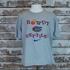 Vtg Nike Florida Gators ROWDY REPTILES Gray T Shirt sz XL 90's NCAA Basketball