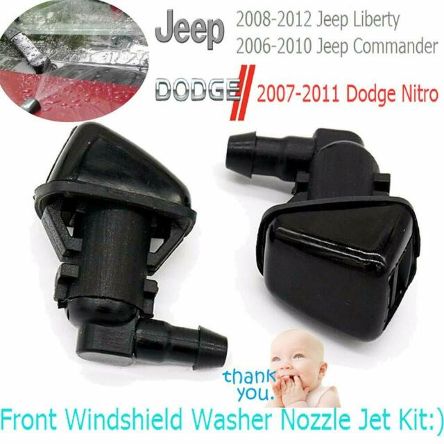 Front Windshield Washer Nozzle Wiper Spray Jet Kit For Jeep Liberty Dodge Nitro