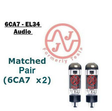 MATCHED PAIR (2x) NEW 6CA7 (EL34) JJ / Tesla Audio Output Tubes - VERIFIED