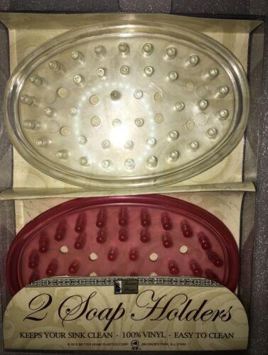 Set of 2 Bar Soap Holder Dish for Shower Soap Saver Sink Many Color Vanity