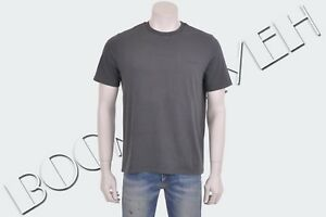 BALENCIAGA-350-Authentic-New-Gray-Cotton-Logo-Print-Tshirt