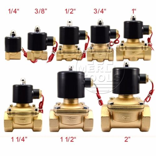 "Select DC12V DC24V AC220V 12"" Brass Electric Solenoid Valve for Water Gas Oil"
