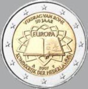 Nederland  2007  2 euro commemo  Verdrag van Rome     UNC uit de rol !!!