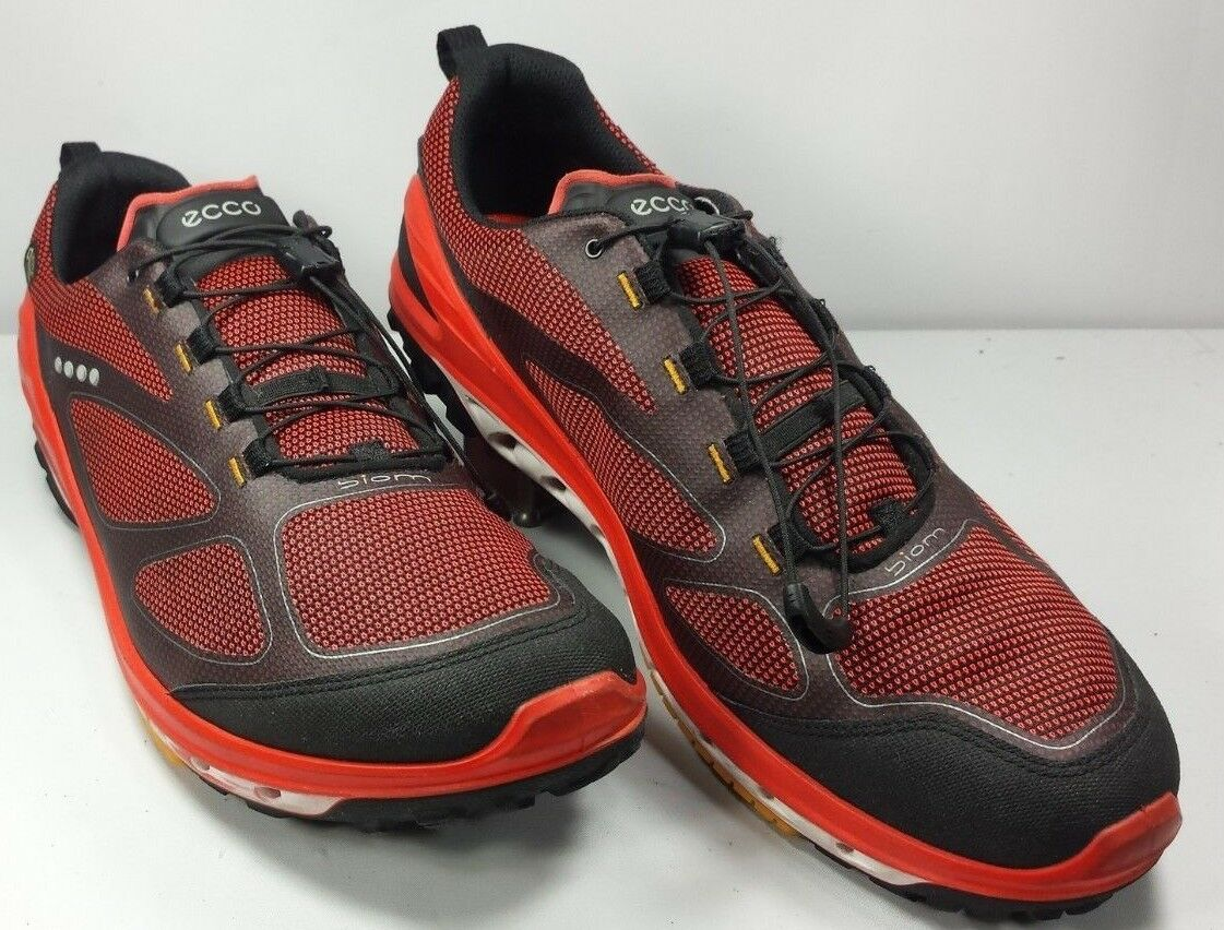 ECCO Uomo's Biom Gore-Tex Surround Racer Running Shoes Red EUC! Size 12 EUR 46