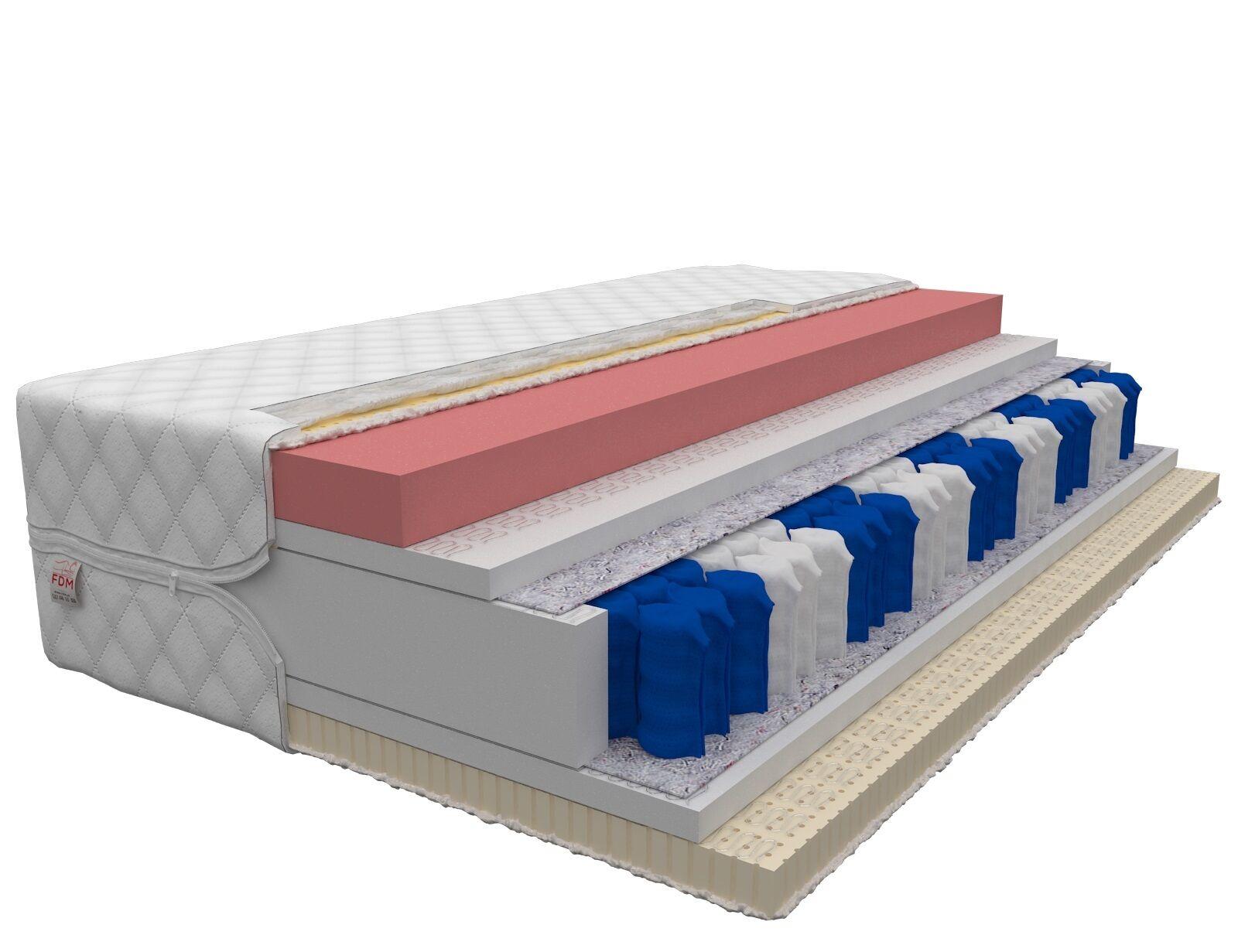 Matratze HATI MAX 28cm 9 Zonen H2 H3 Latex Visco Taschenfederkern Größe wählbar