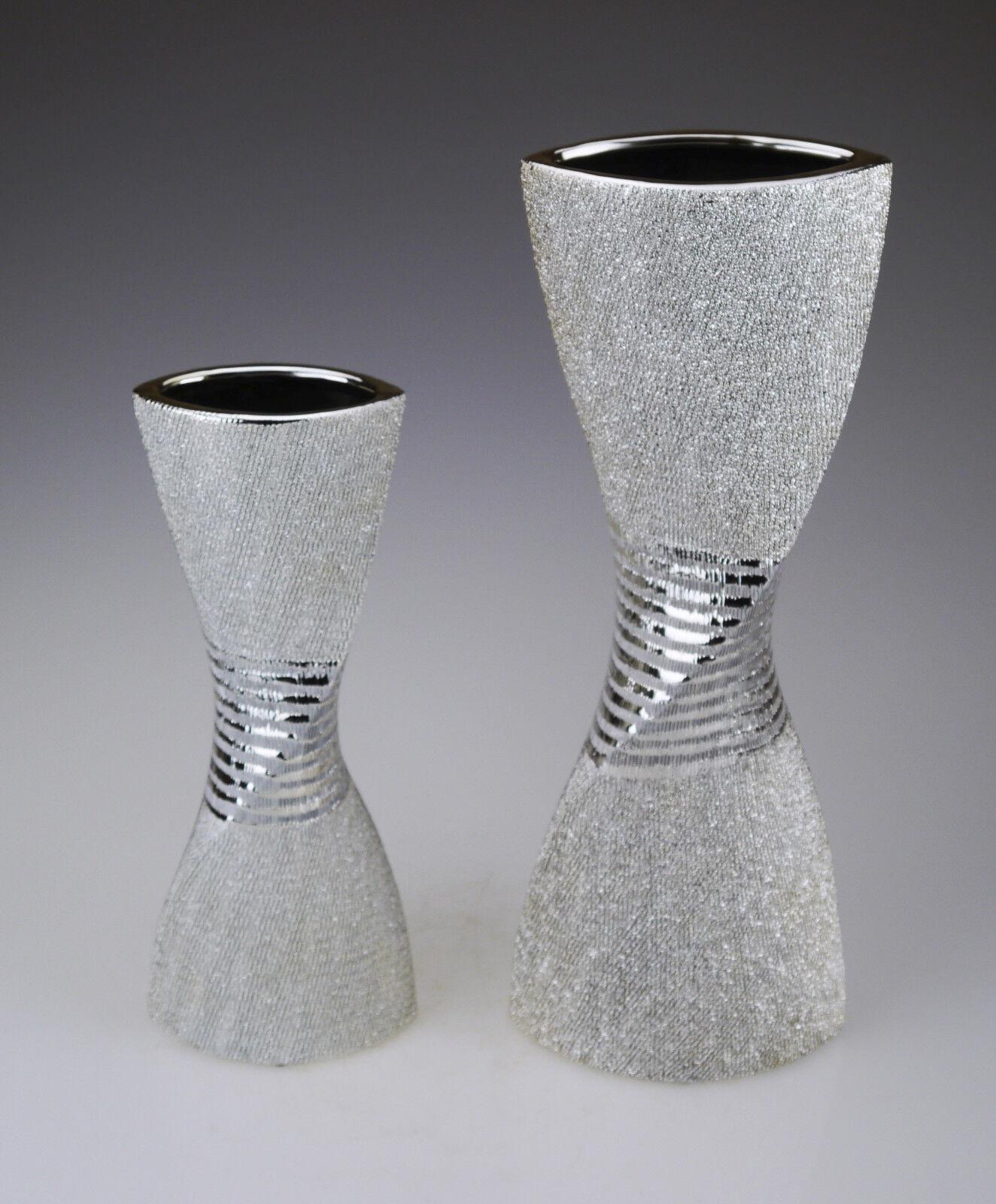 Blaumenvase silber Deko modern Vase Dekoration Tischdeko Tischvase Blaumen Design