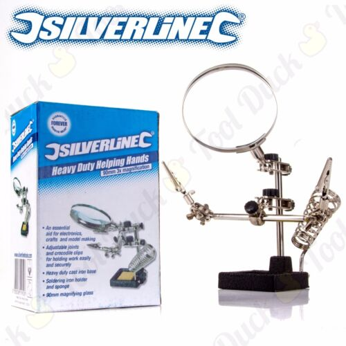 SILVERLNE HEAVY DUTY HELPING HANDS Soldering//Hobby//DIY//Electronics//Repair//Clamp