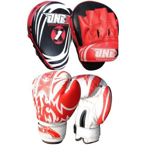 Boxing Gloves Adult Focus pads MMA Hook//Jabs Junior Gym Training Christmas Set