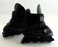 """Pair of Dolls Delight Shoes Black Roller Blades Boots to Fit 18"""" Doll Length 3"""""""
