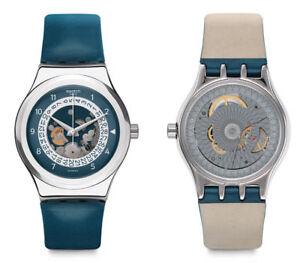 Swatch-Sistem-Through-Automatik-Uhr-YIS417-Analog-Leder-Blau