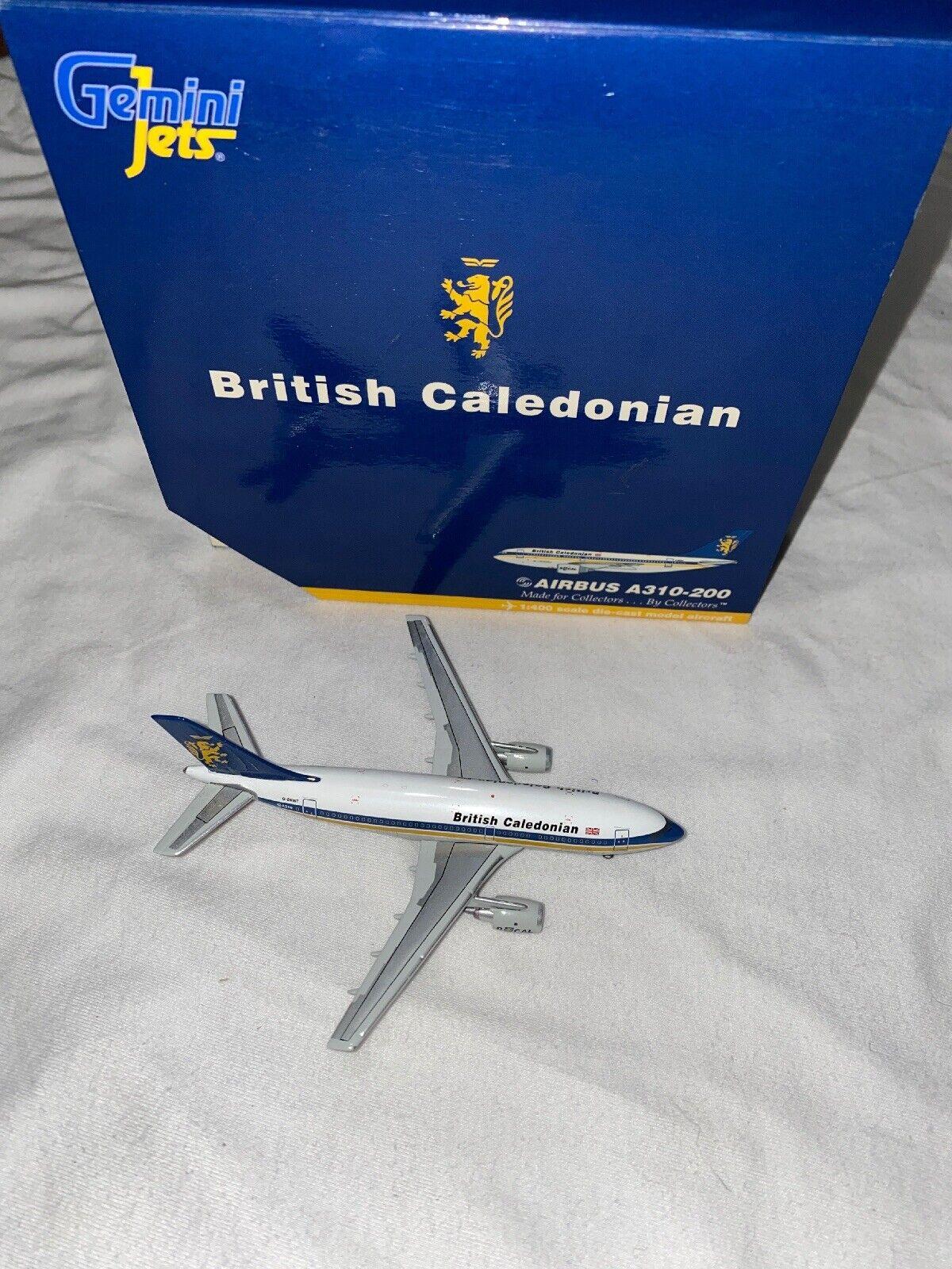 RARE Gemini Jets 1400 BRITISH CALEDONIAN AIRautobus A310200 modellolo Diecast gjbca 641