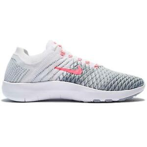 1623a6eb86598 Womens NIKE FREE TR FLYKNIT 2 White Running Trainers 904658 100