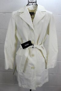 200-ELLEN-TRACY-COMOPANY-Fresco-Ivory-3-4-Belted-Chic-Trench-Coat-Jacket-M-NWT