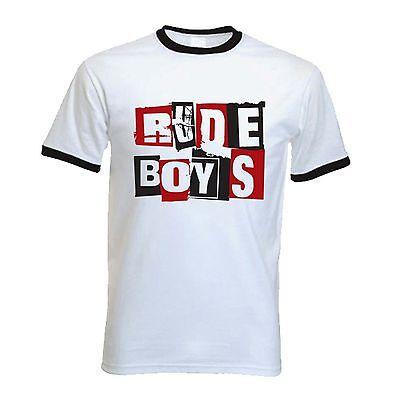 RUDE BOYS T-SHIRT - Ska 2 Tone Madness The Specials Reggae Skinhead Mod FREE P&P