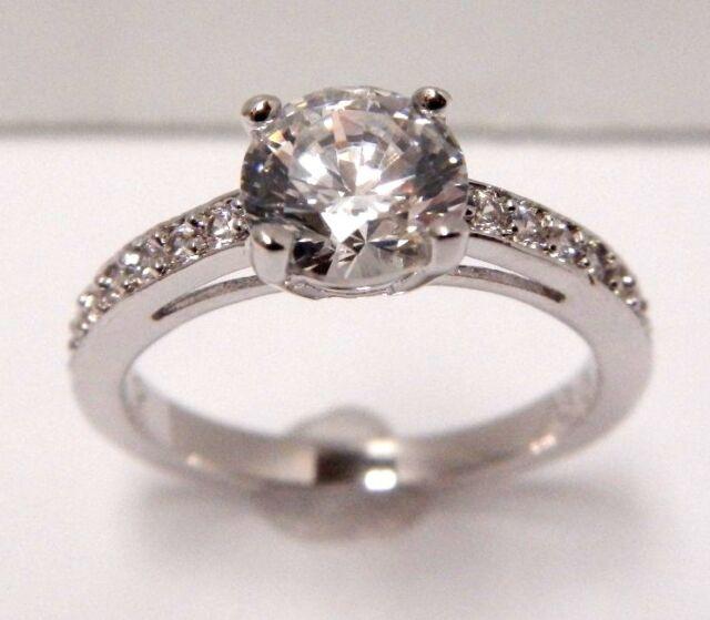 fdb71ab1b8735 Attract Round White Crystal Ring Size 5 EUR 50 2014 Swarovski Jewelry  5032919