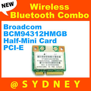 Broadcom-BCM94312HMGB-Wireless-Bluetooth-Combo-Half-Mini-Card-PCI-E-WLAN