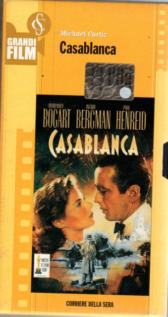 VHS=Casablanca (1943)=GRANDI FILM CORRIERE SERA=N°6 della collana=