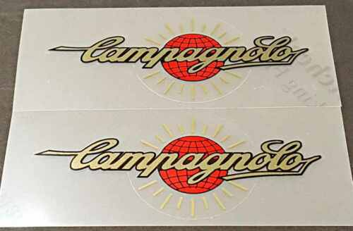 sku Camp209 1 Pair Gold//Red Campagnolo Top Tube Decals