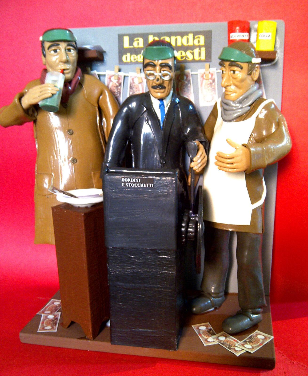 Statuina-Statuetta Totò e Peppino  La Banda degli onesti  scenografia Tipografia