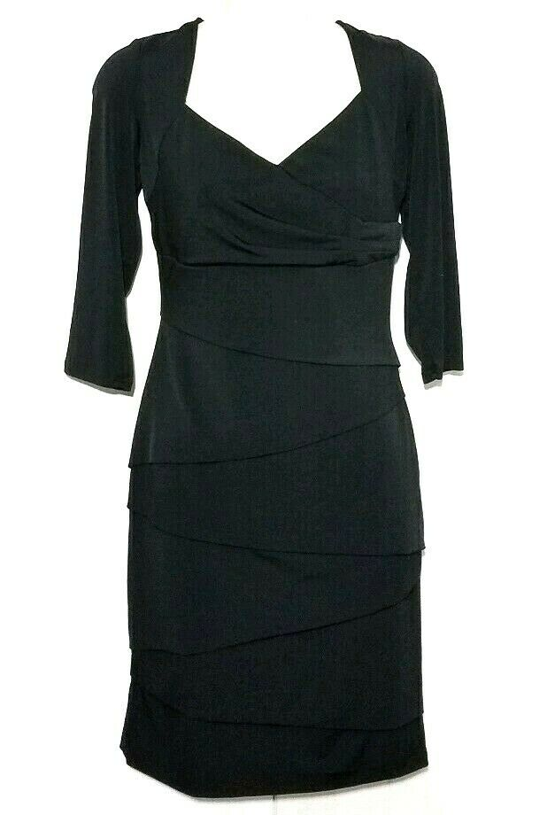 Weiß House schwarz Market Größe 8 Instantly Slimming 3 4 Sleeve schwarz Dress