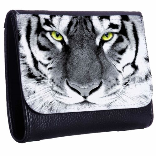 Eyes Of The Tiger Tri-Fold Wallet w// Button Pocket