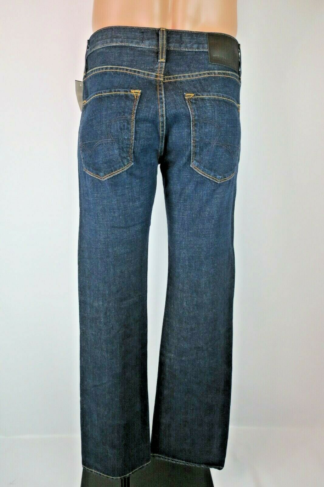 NEW BIG STAR Straight Leg Jeans Union 30R 32 inseam VERY Dark Denim Wash NWT BKE
