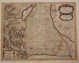 Orig-kol-Kupferstichkarte-Jansson-034-Nova-Alemannialsive-Sueviae-034-um-1650-sf