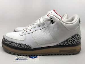 best cheap a9502 8497a Image is loading Nike-Air-Jordan-Fusion-III-3-White-Cement-