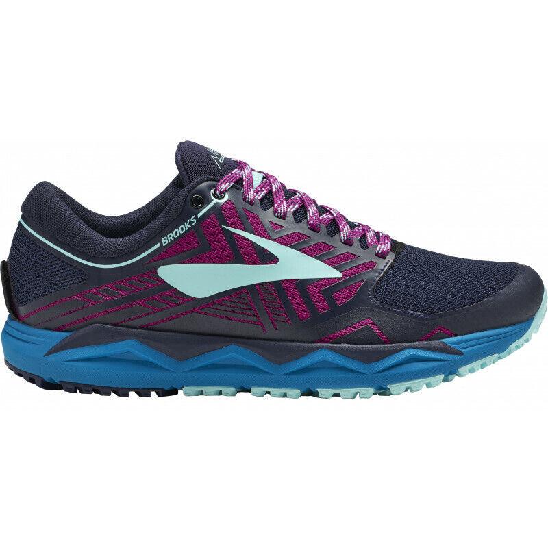 Womens Brooks Caldera 2 Women's Trail Running Runners Sneakers shoes - Navy