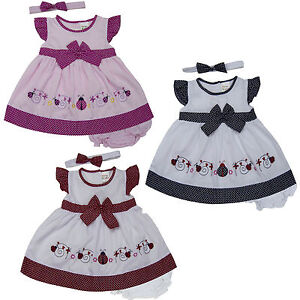 08455265c09b new newborn infant baby girl dress headband clothing outfit size 3 6 ...