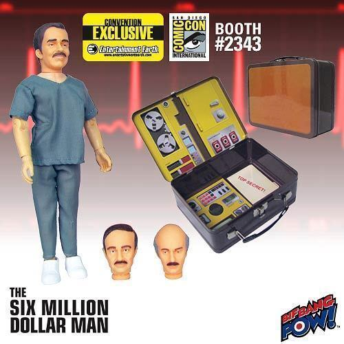 RUDY WELLS ensemble cadeau Tin Tote Six Million Dollar Man 3 Faces of Dr