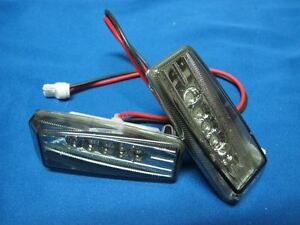 SMOKED-lens-LED-Side-Marker-Indicators-lights-lamps-Fits-Mercedes-Benz-w140-w124