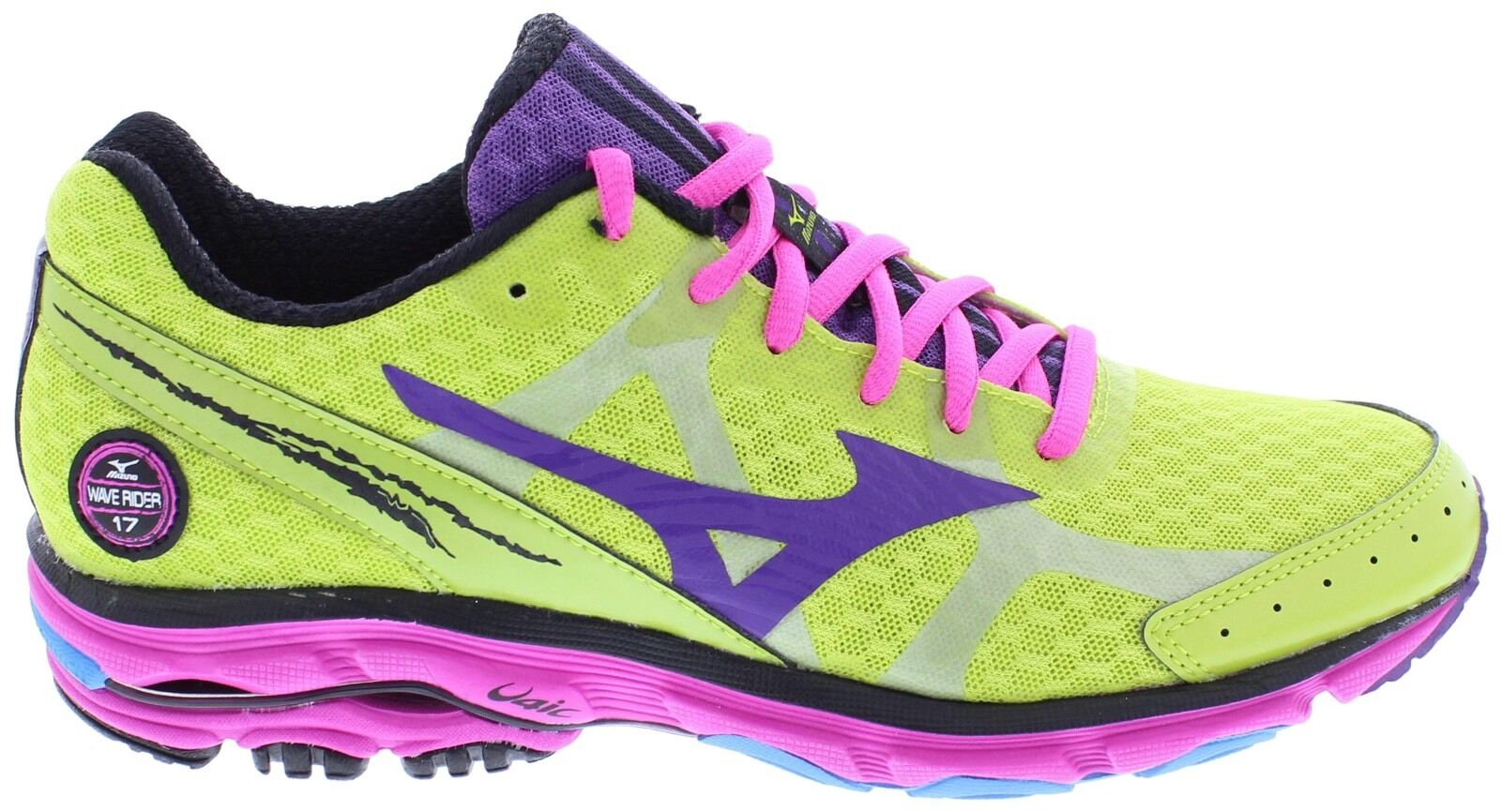 MIZUNO WAVE RIDER 17 GREEN PINK PURPLE PREMIUM WOMEN'S RUNNING Schuhe  AUTHENTIC