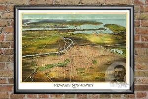 Vintage-Newark-NJ-Map-1916-Historic-New-Jersey-Art-Old-Victorian-Industrial