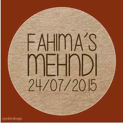 35x Qualsiasi Testo Personalizzato Mehndi Festa Matrimonio Rustico Chic HennÉ Adesivi 560-mostra Il Titolo Originale Alta Qualità E Basso Sovraccarico