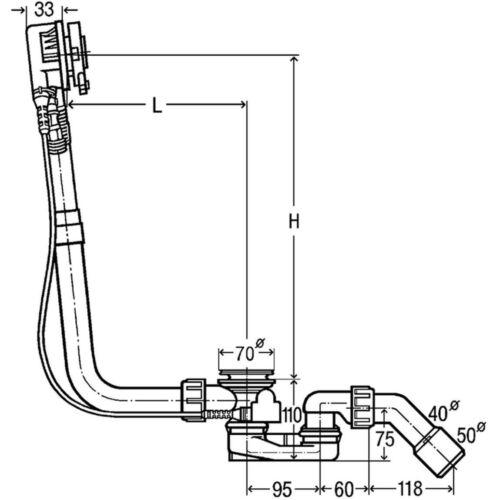 Viega Multiplex Trio Ablaufgarnitur Badewanne Sonderwanne Fertigset MT5 Siphon