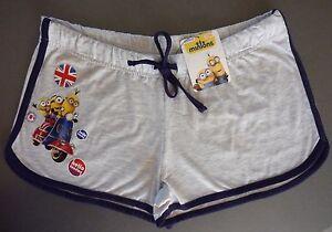 Minions-Damen-Shorts-Hotpants-Hose-Kurz-34-36-38-40-I-LOVE-LONDON-XS-S-M-Primark