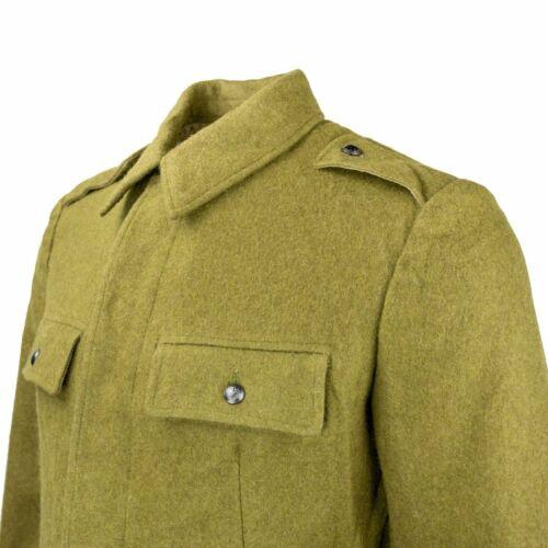 Vintage Soviet Era Romanian wool military jeep jacket blazer coat army Communist