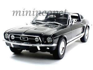 MAISTO-31166-1967-67-FORD-MUSTANG-GTA-FASTBACK-1-18-DIECAST-MODEL-CAR-BLACK
