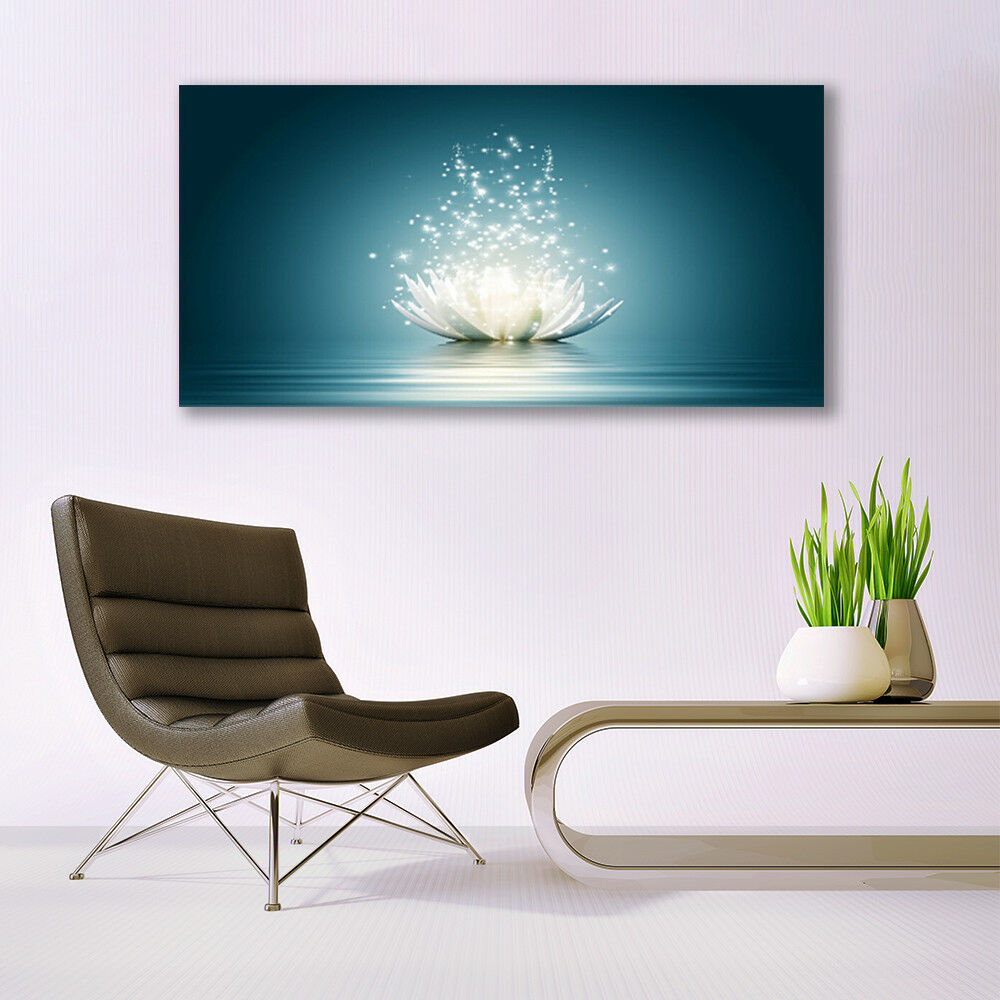 Print on Glass Wall art 140x70 Picture Image Image Image Lotus Flower Blossom Floral cce5e5
