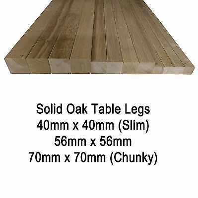 Stupendous Square Solid European Oak Table Legs Posts Various Sizes Heights Set Of 4 Ebay Beutiful Home Inspiration Aditmahrainfo