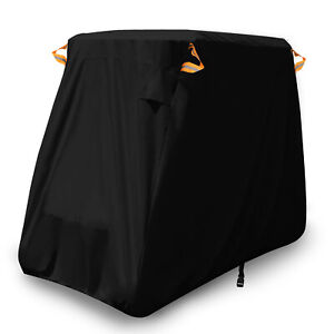 2-Passenger-Waterproof-Golf-Buggy-Cart-Cover-Storage-Black-For-Yamaha-EZ-Go-Club