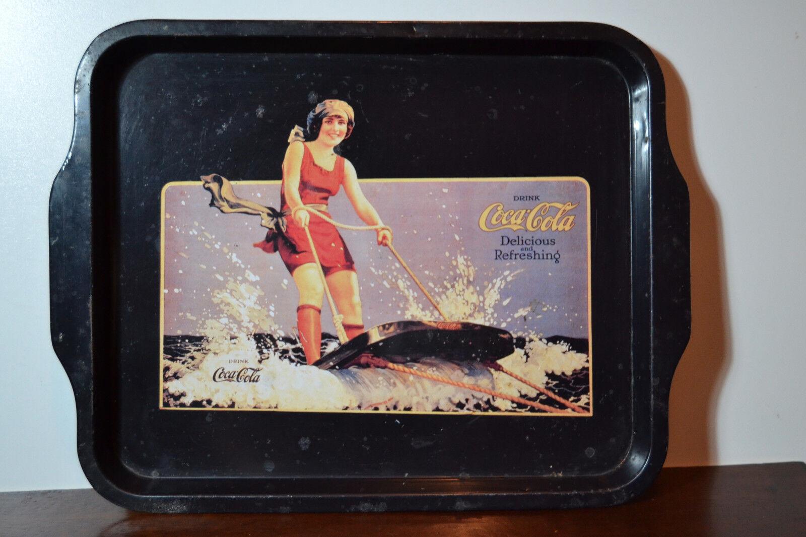 Bandeja publicidad coca cola vintage metal esqui