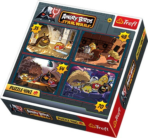 70 Teile Angry Birds Star Wars 34226 48 54 Puzzle Pappe Trefl 4 in 1 35