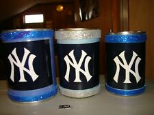 3 Ny Yankees Pen Can Holders Office Supplies Desk Accessories Memorabilia