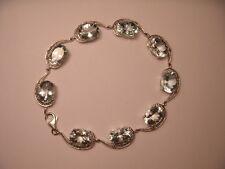 Gorgeous 18K White Gold Diamond Huge Aquamarine Bracelet