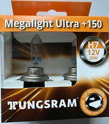 GE MEGA LIGHT H7 UPGRADE ULTRA BULBS H7 GE MEGALIGHT 150/% MORE LIGHT TWIN PACK