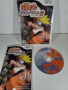 Naruto-Clash-of-Ninja-Revolution-2-Nintendo-Wii-2008-Video-Game-Complete-CIB